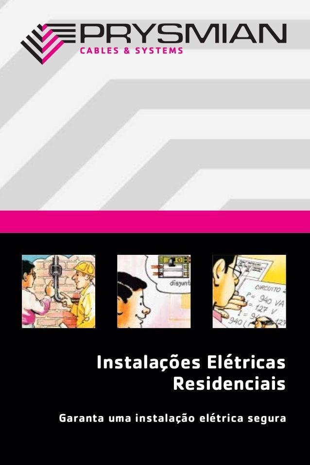 Instalações elétricas   instalações elétricas residenciais - prysmian - 2006