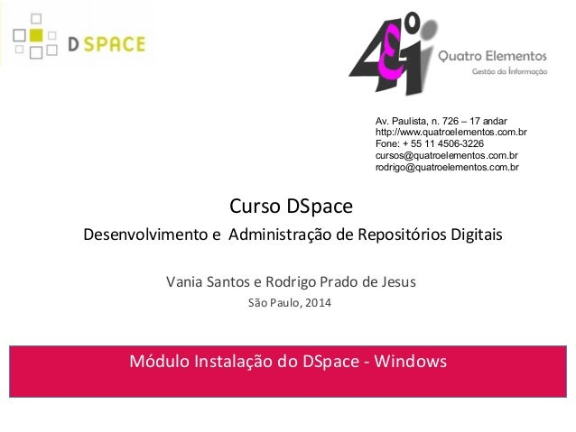 Instalação DSpace 4.x Windows