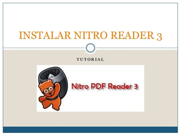 INSTALAR NITRO READER 3         TUTORIAL