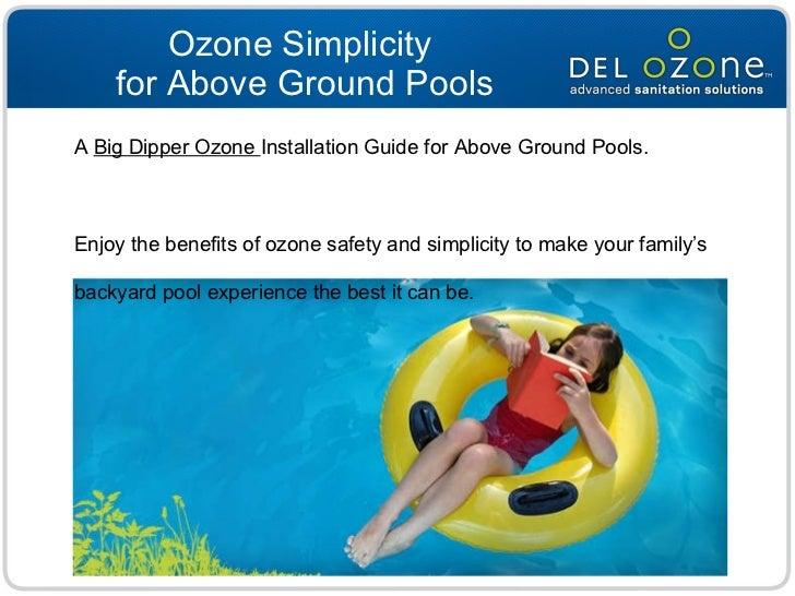 Above Ground Pool Ozone Installation
