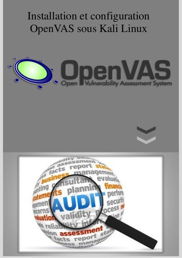 Installation et configuration OpenVAS sous Kali Linux
