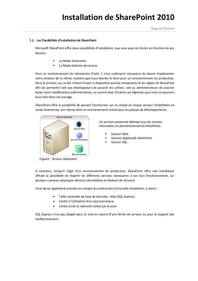 Installation de SharePoint 2010                                                                                          A...
