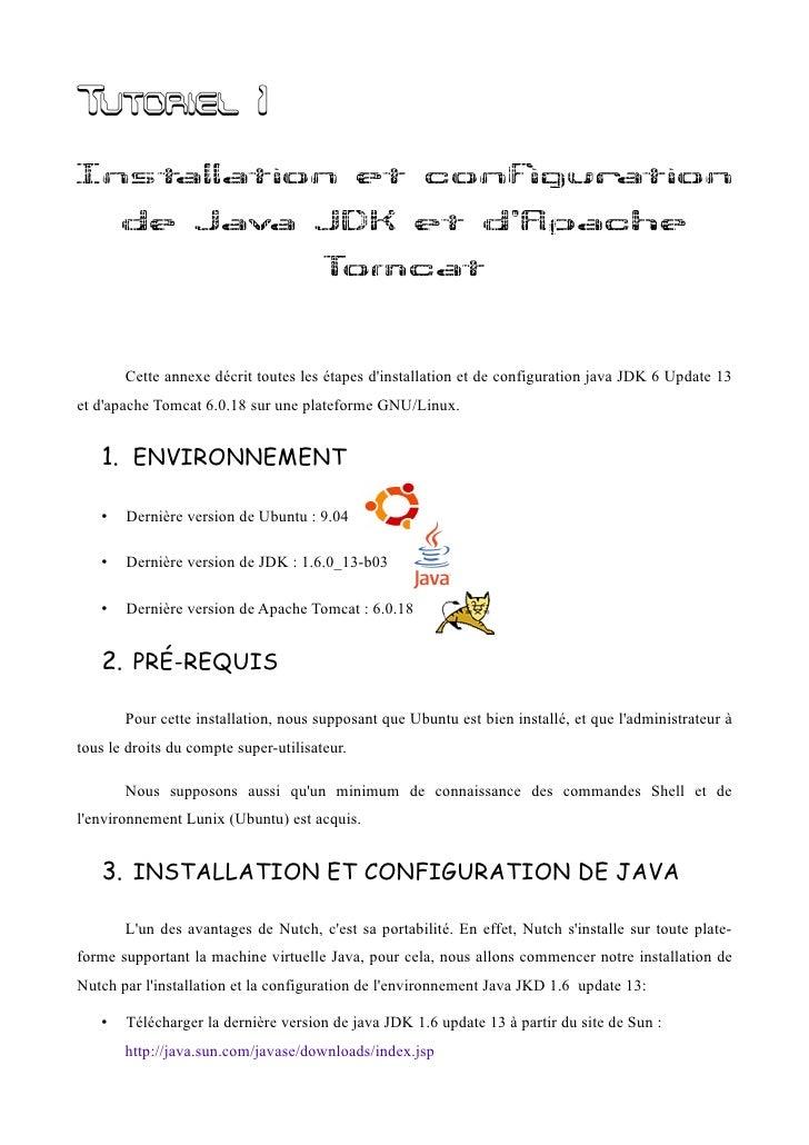 Installation et Configuration ee JDK et de Tomcat
