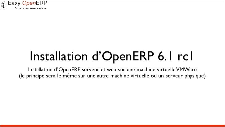 Installation d'openerp 6.1 rc1