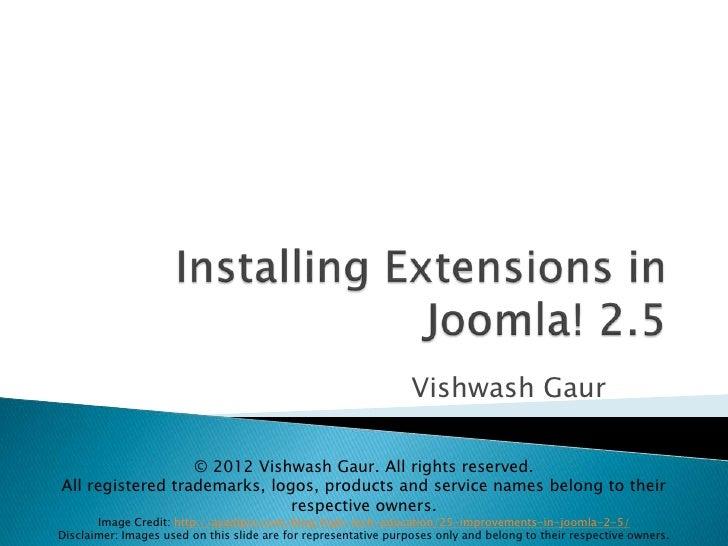 Installing Extensions in Joomla! 2.5