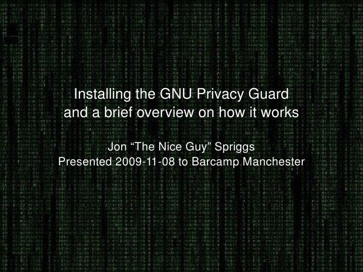 Installing Gpg