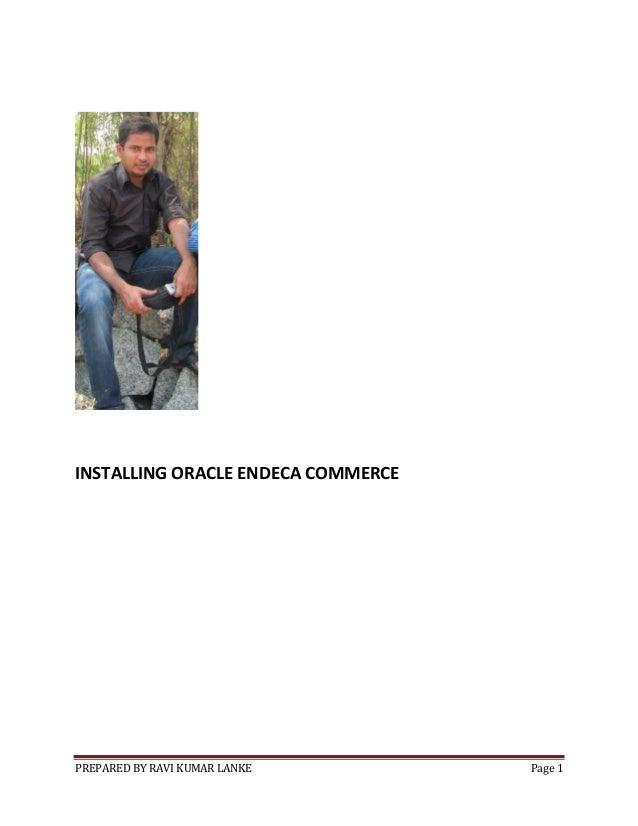 Installing oracle endeca commerce