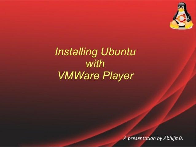 Installing ubuntu on VMWare