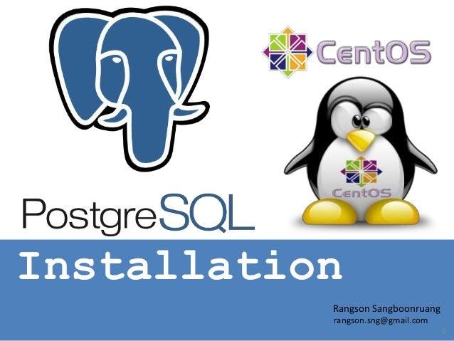 Install PostgreSQL on CentOS