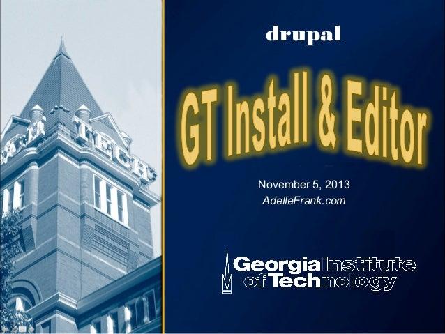 drupal  November 5, 2013 AdelleFrank.com