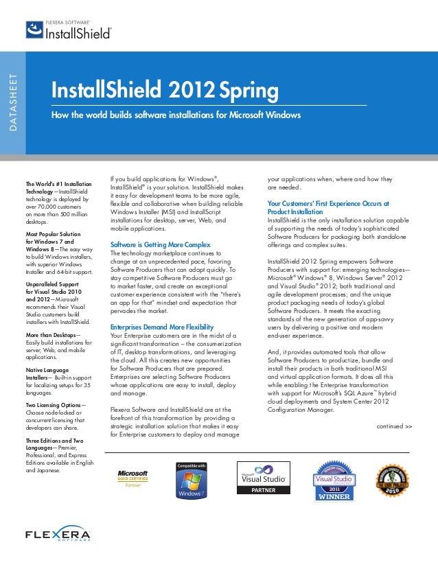 InstallShield Datasheet