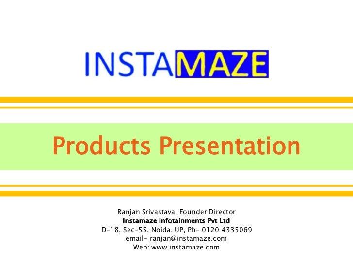 Insta maze corporate presentation