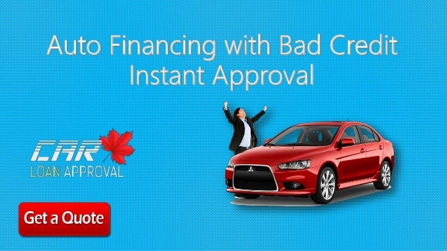 Instant Approval Car Loans Bad Credit Online in Canada