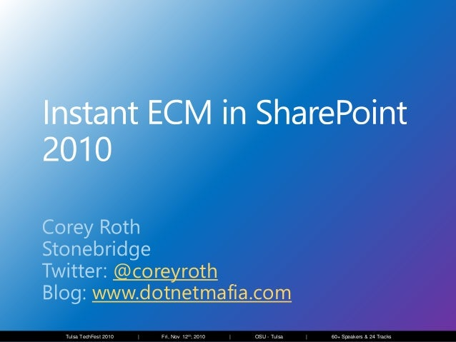 Instant ECM with SharePoint 2010