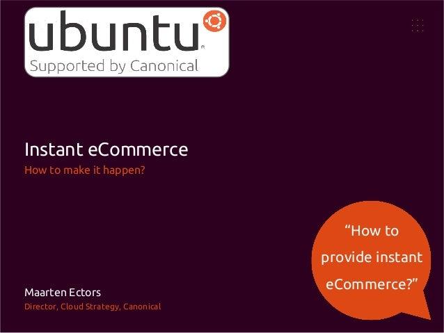 Instant eCommerce