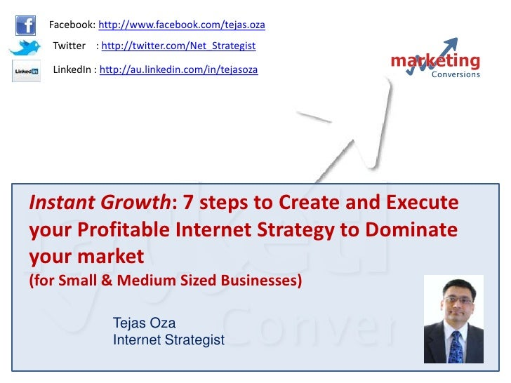 Instant Growth : 7 Steps To Create And Execute Your Profitable Internet Strategy