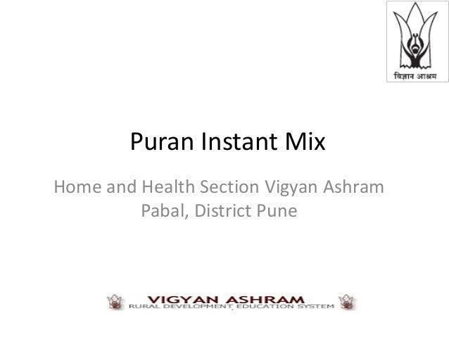Instant puran mix