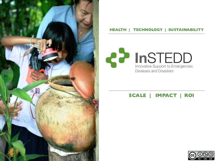 HEALTH | TECHNOLOGY | SUSTAINABILITY         Innovative Support to Emergencies         Diseases and Disasters       SCALE ...