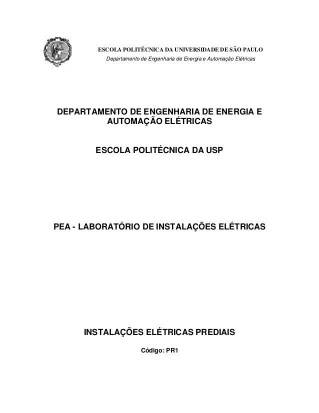 ESCOLA POLITÉCNICA DA UNIVERSIDADE DE SÃO PAULO Departamento de Engenharia de Energia e Automação Elétricas DEPARTAMENTO D...