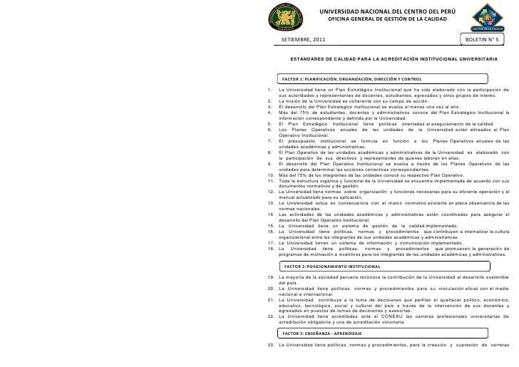 UNIVERSIDAD NACIONAL DEL CENTRO DEL PERÚ                           OFICINA GENERAL DE GESTIÓN DE LA CALIDAD       SETIEMBR...