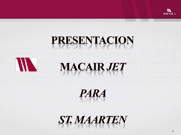 Institucional macair jet sxm ingles