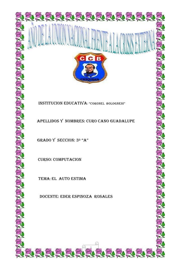 "<br />1920240264160<br />                INSTITUCION EDUCATIVA: ""coronel  Bolognesi"" <br />          APELLIDOS Y  nombres..."