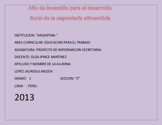 """""""Institucion educativa argentina """""""