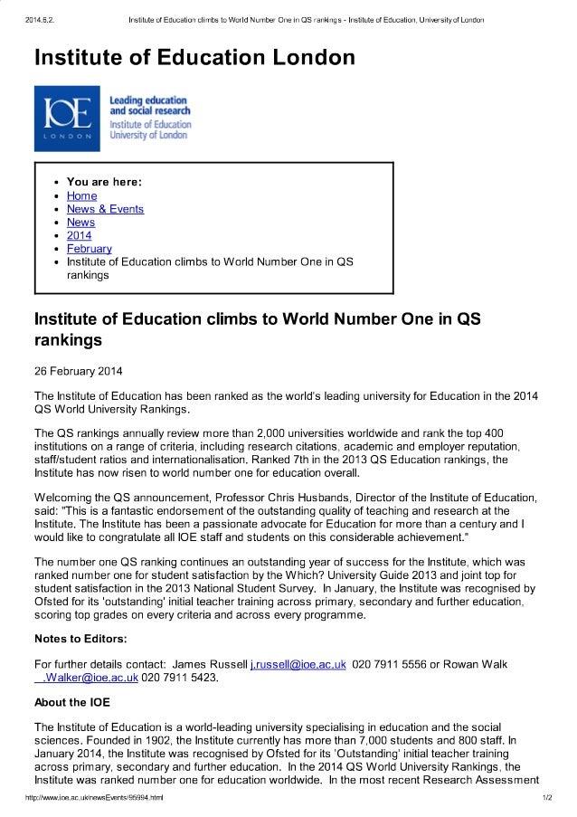 Institute of education c..