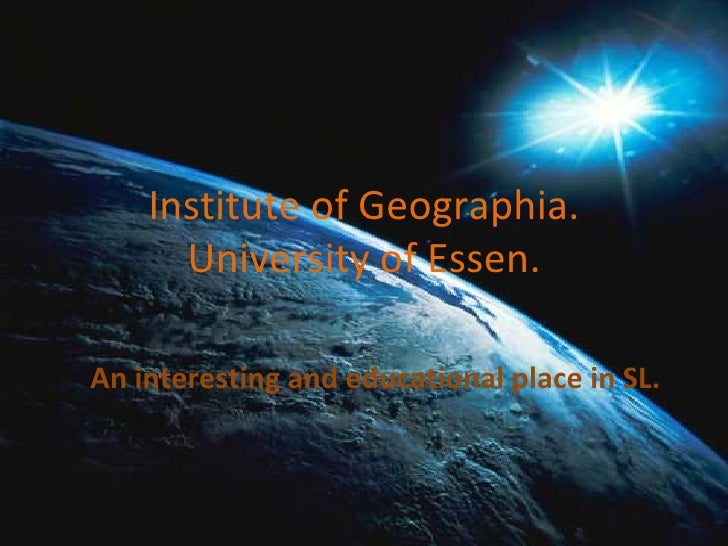 An interesting and educational place in SL. Institute of Geographia. University of Essen.