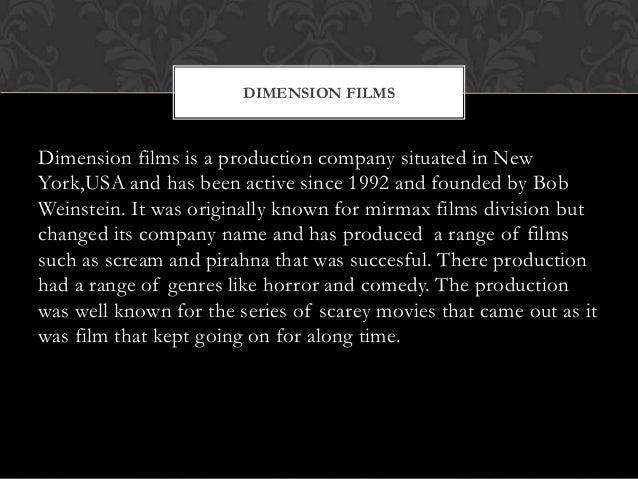 Dimension Films 1992 Dimension Films Dimension