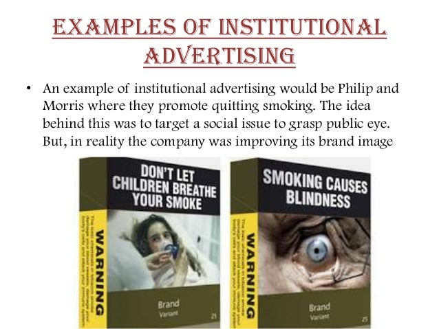 Institutional Advertising Examples Examples of Institutional