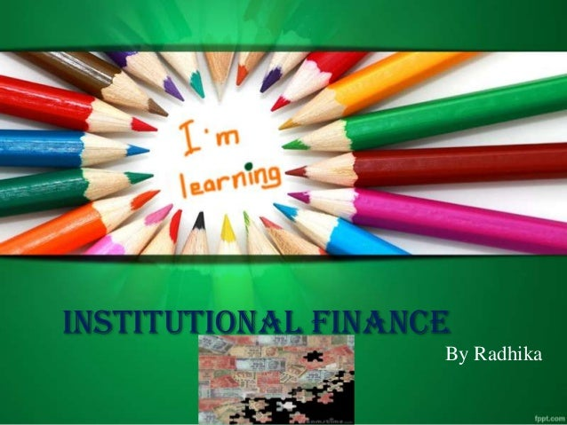 Institutional finanace Unit-5 T Y BBA