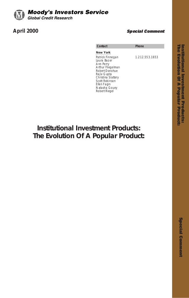 Institutional Investment Products