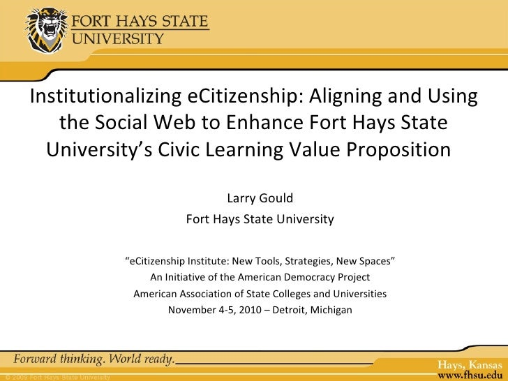 Institutionalizing eCitizenship