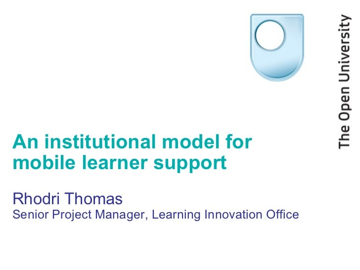 Institutional mobile learner support March 2011