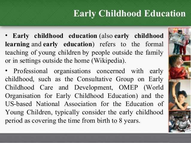 nursing and early childhood education essay Early childhood education has not conclusively been part of, or even included in the larger child care advocacy movements.