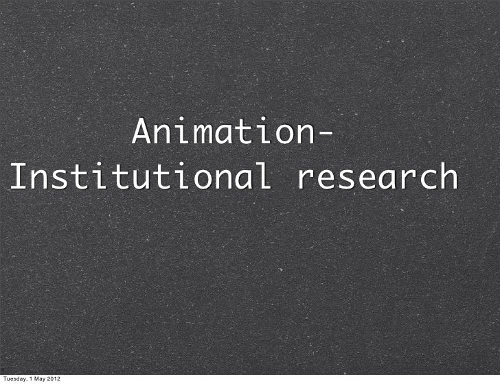Institutional research -Ashleigh