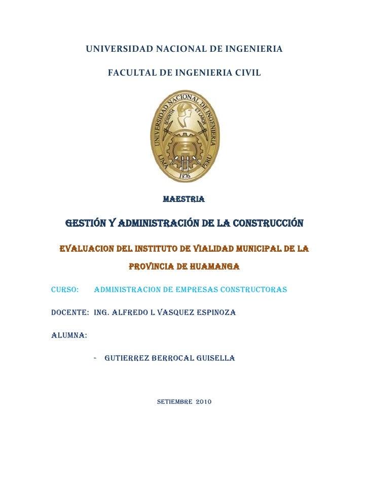 Instituto de vialidad municipal de la provincia de huamanga