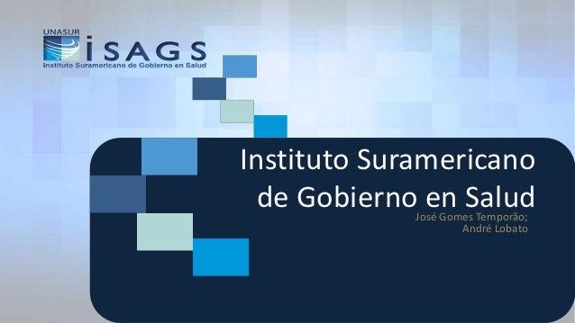 Instituto Suramericano  de Gobierno en Salud             José Gomes Temporão;                     André Lobato