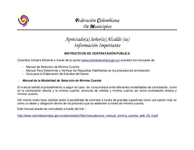 Instrictivos contratacion pública