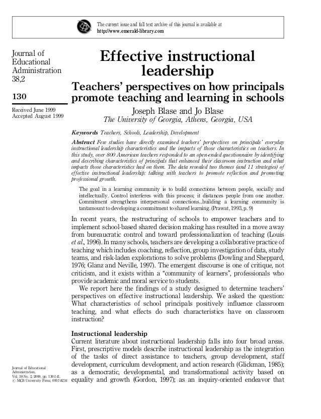 Journal of Educational Administration 38,2 130 Journal of Educational Administration, Vol. 38 No. 2, 2000, pp. 130-141. # ...
