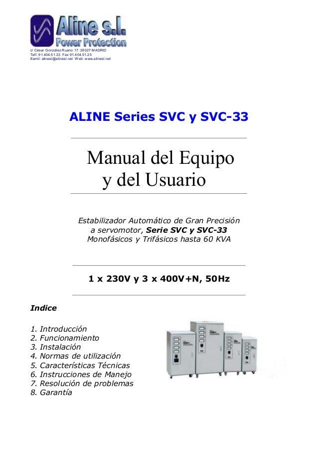 Instrucciones del estabilizador de corriente