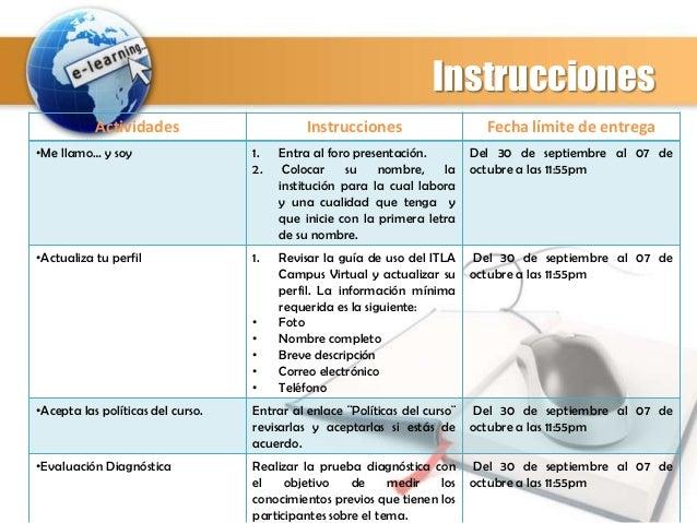 Instrucciones diseño instruccional módulo 0