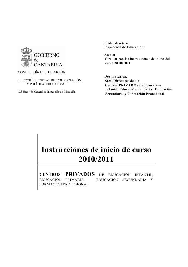 Unidad de origen:                                                      Inspección de Educación                            ...