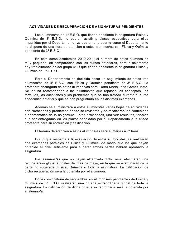 ACTIVIDADES DE RECUPERACIÓN DE ASIGNATURAS PENDIENTES       Los alumnos/as de 4º E.S.O. que tienen pendiente la asignatura...