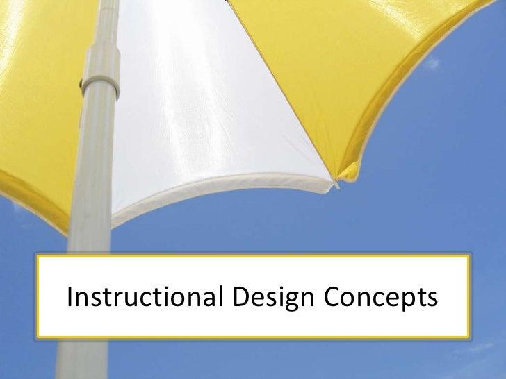 Instructional Design Concepts<br />