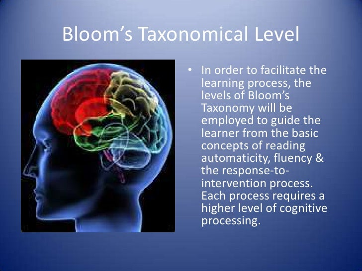 Bloom's Taxonomical Level             • In order to facilitate the               learning process, the               level...