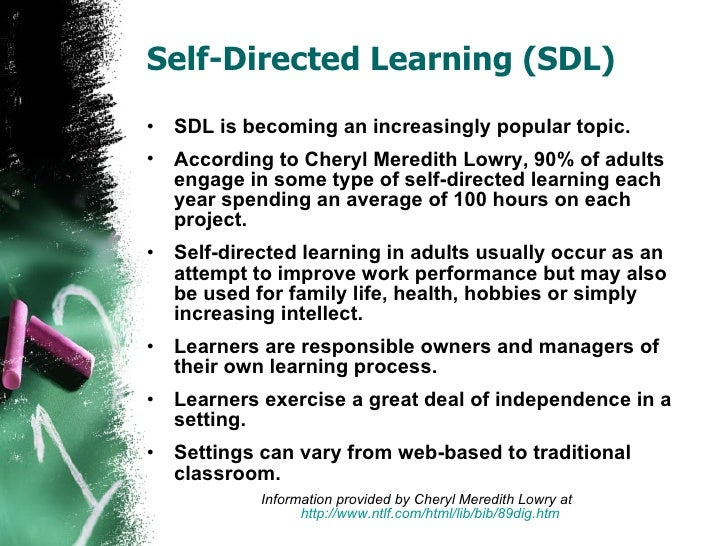 self directed learning essay Successful self directed learning requires certain traits how well do these 15 describe you, your students, your children, or your friends and colleagues.