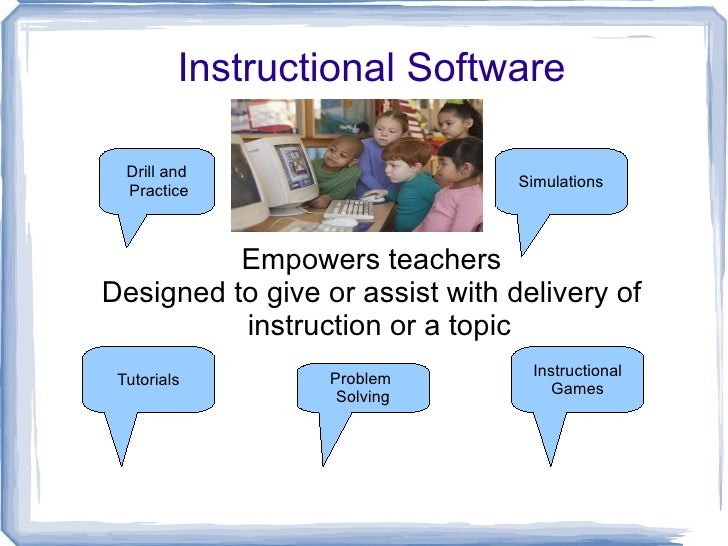 Instructional Software  Drill and                                 Simulations  Practice          Empowers teachersDesigned...