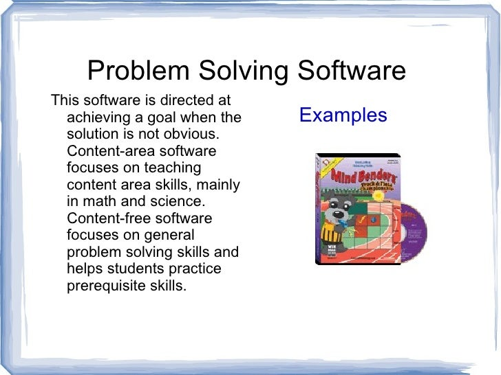 Examples problem solving